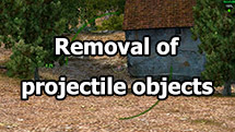 Removal of projectile objects for World of tanks 1.12.1.1