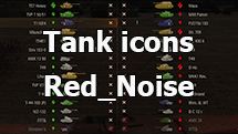Contour colored icons of tanks from Red_Noise for WOT 1.11.0.0