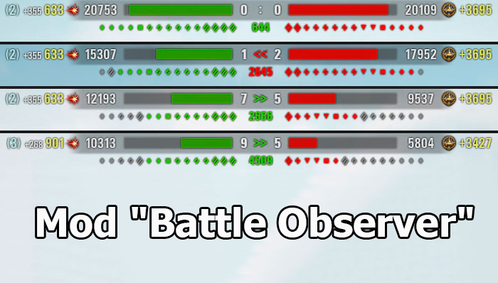 "Mod ""Battle Observer"" - Team Health Bar for WOT 1.6.1.3"