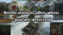 Notification to allies when you are detected for WOT 1.12.0.0