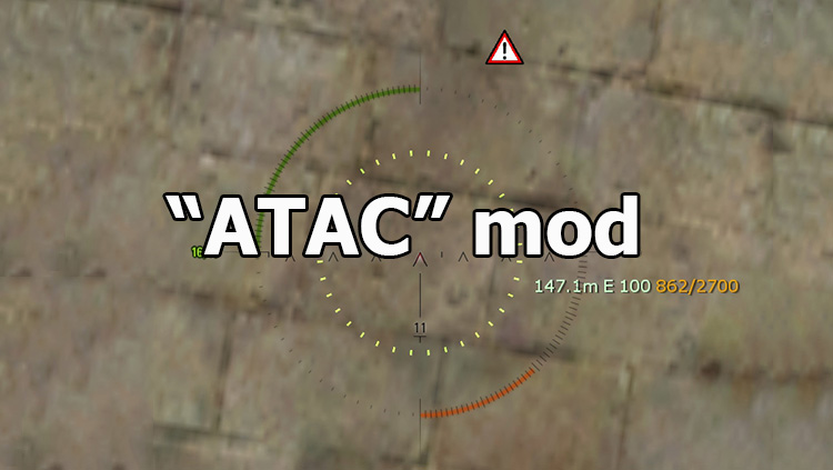 """ATAC"" mod - enemy indicator for World of Tanks 1.12.0.0"