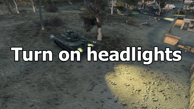 "Mod ""Turn on headlights"" for World of Tanks 1.6.1.4"