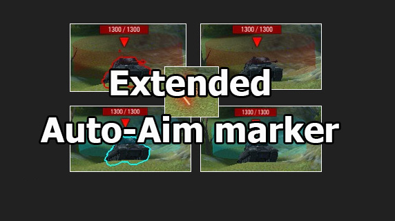 "Mod ""Extended Auto-Aim marker"" for World of Tanks 1.12.1.1"