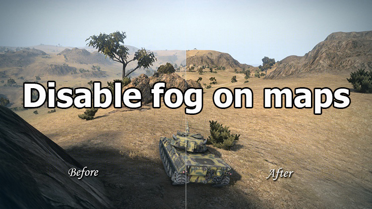 Disable fog on maps and inrease visibility range for WOT 1.7.1.2
