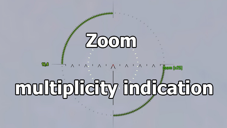 Mod Zoom multiplicity indication for World of Tanks 1.12.0.0