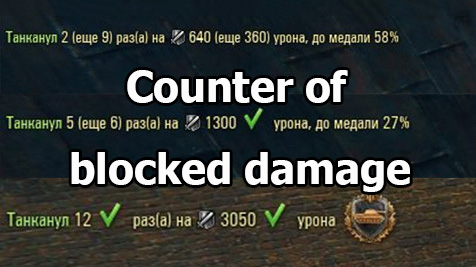 "Mod ""Counter of blocked damage"" for World of Tanks 1.9.0.3"