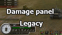 "Damage panel ""Legacy"" for World of Tanks 1.9.1.2"