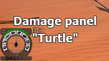"Damage panel ""Turtle"" for World of Tanks 1.10.0.2"