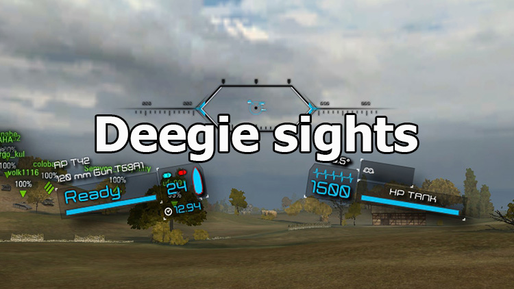 "Korean ""Deegie sights"" for World of Tanks 1.9.0.3"