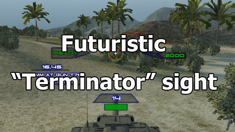"Futuristic ""Terminator"" sight for WOT 1.7.0.2"
