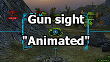 "Gun sight ""Animated"" for World of Tanks 1.7.0.2"