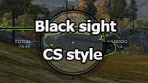 Black sight CS style for World of Tanks 1.10.1.4