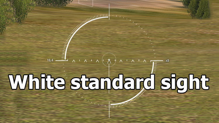 White standard sight for World of Tanks 1.7.1.0