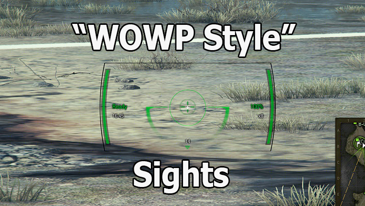 """WOWP style"" air sight for World of Tanks 1.11.0.0"