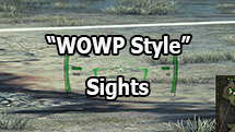 """WOWP style"" air sight for World of Tanks 1.9.0.3"