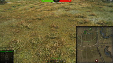 Place of aiming ally SPGs on minimap for World of Tanks