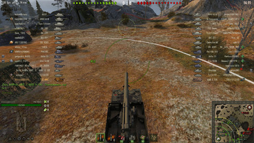 Transparent interface in battle for World of Tanks