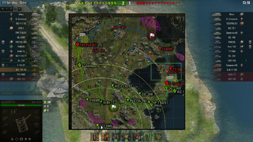 "Mod ""Tactical minimap in battle"" for World of Tanks"