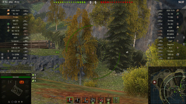Disabled fadeout in the Sniper mode for World of Tanks