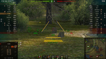 "Animated sights ""Predator"" for WOT"