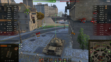 Bright sight with animation for World of Tanks