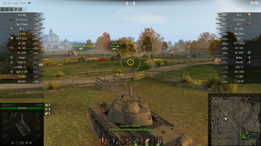 Informative yellow sight for World of Tanks