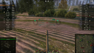 "Green sight ""Magnitola"" for World of Tanks"