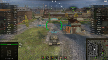 "Stylish turquoise sight ""Staple"" for World of Tanks"
