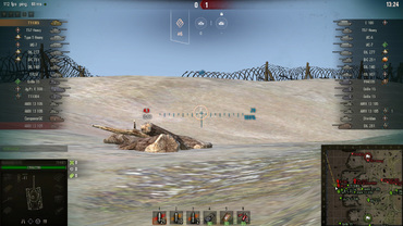 "Comfortable sight ""Blue Light"" for World of Tanks"