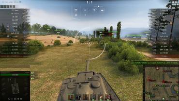 White standard sight for World of Tanks