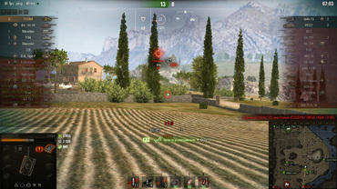 White crosshair sights for WOT