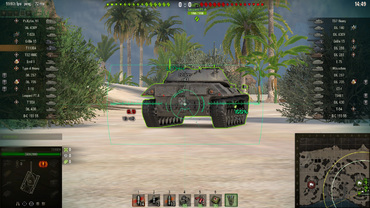 "Modified sights ""Turquoise + ZX"" for World of Tanks"
