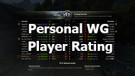 Personal WG Player Rating for World of Tanks 1.7.1.2
