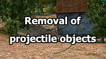 Removal of projectile objects for World of tanks 1.11.0.0
