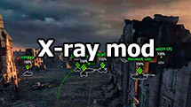 X-Ray mod for World of Tanks 1.11.0.0