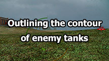 Outlining the contour of enemy tanks for World of Tanks 1.11.0.0