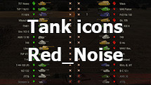 Contour colored icons of tanks from Red_Noise for WOT 1.10.0.4