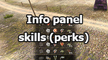 Info panel crew skill (perks) in battle for World of Tanks 1.6.1.3