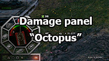 "Damage panel ""Octopus"" for World of Tanks 1.10.0.0"