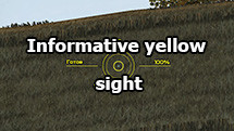 Informative yellow sight for World of Tanks 1.10.1.1