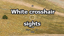 White crosshair sights for WOT 1.10.0.4